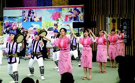エイサー演舞などで盛り上がった粕壁エイサーまつり2018=埼玉県春日部市(同市提供)