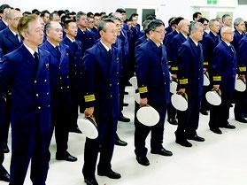遠山部長による職員訓示が行われた=5日午後、石垣海上保安部