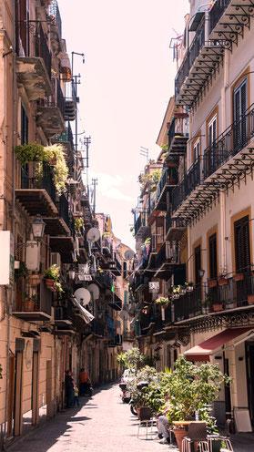 Palermo, Gassen, Sizilien