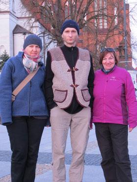 Unsere Warmshowers-Gastgeber Anna und Adam.