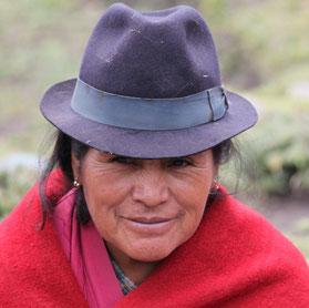 Andenhochland Indio Frau