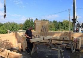 Massivholzhäuser, Blockhaus, Holzhaus, Holzbau, Bauen, Blockbausbau, Montage, Holzhäuser, Blockhäuser, Vertrieb, Hausbau, Bausatz
