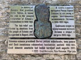 Estland, Tallinn, Reval, Altstadt, Patkuli Treppe, Denkmal, Boris Jelzin