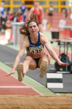 Klaudia Kaczmarek: Der Turbo führte nicht zum gewünschten Erfolg im Weitsprung.
