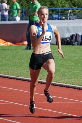 Die erfolgreiche U16-Sprinterin Rieke Unland siegte über 100m und 300m.