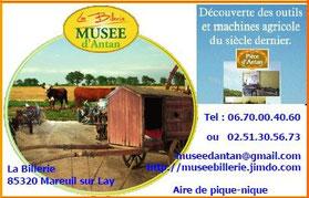 Le musée d'Antan, partenaire des hébergeurs Sud-Vendée Vacances