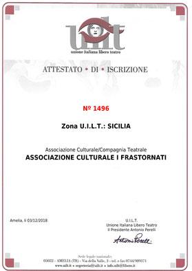 Attestato UILT sicilia