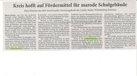 Der Rhein-Neckar-Kreis beschließt, die Comenius-Schule zu sanieren.