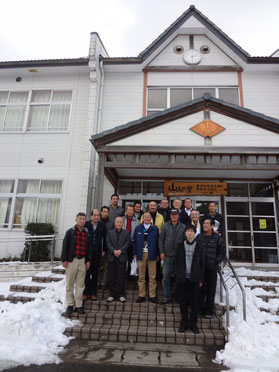 先進地視察研修。重清北交流促進簡易宿泊施設「山人(やまんと)の里」を訪問しました。