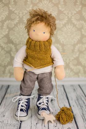 Waldorfpuppe, Puppe für Jungs, Junikate-Puppen, Waldorfpuppe für Jungen, Waldorfpuppen, Waldorfdoll, Steiner-Doll, Junikate