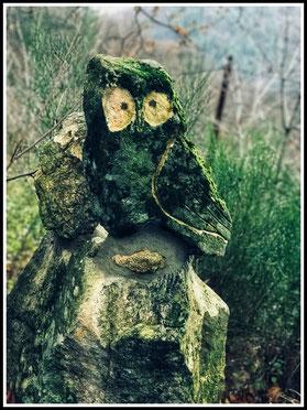 Sculptures spectaculaires à admirer sur la route menant au Monteil...