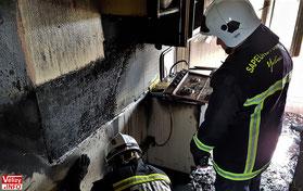 L'incendie s'est déclaré au niveau de la cuisinière.