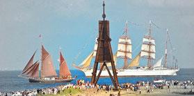 Die Kugelbake, das Wahrzeichen Cuxhavens
