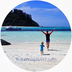 kindergeeigneter Strand auf den Seychellen