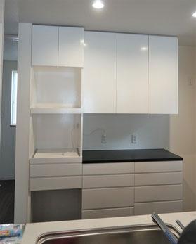 キッチン収納 カップボード オーダー家具 収納家具