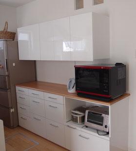 キッチン収納 カップボード オーダー家具