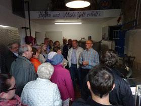 Foto: Maria Rammelmeier 2019: Brauereiführung