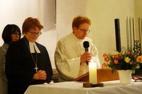 Dekanin Christiane Murner und Diakon Peter Heyd; Foto: Klaus Eifler