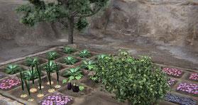 Representación del jardín funerario. / Comunicación CSIC