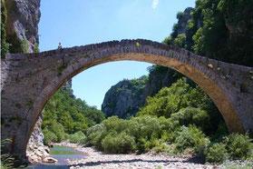 Kokori Bridge in Zagori, prefecture of Ioannina