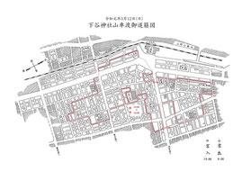 令和元年5月12日:下谷神社山車渡御道筋図
