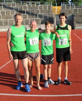 Konnten mit ihren Leistungen zufrieden sein: vl Alfred Just, Franz Herzgsell, Jakob Dauner und Jonas Sandner