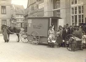 Fahrbare Volksküche, 1916-1920. Der Wagen wurde auch noch nach dem Krieg eingesetzt. Städtisches Museum Göttingen