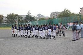 磯子区少年野球新人戦 試合後挨拶