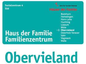 Haus der Familie - Obervieland  Einrichtung des Amts für Soziale Dienste der Stadt Bremen  Eichelnkämpe 11  28277 Bremen