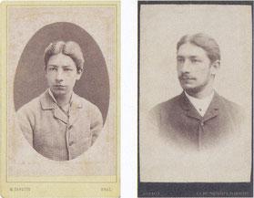 Angelo all'età di 14 e 20 anni (archivio Ceconi - Kitzmüller).