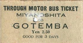 富士屋自動車乗車券