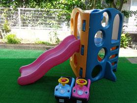 保育園庭やたまごの前庭で遊ぶこともできます