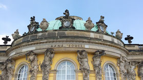 Schloss Sanssouci, Gartenseite