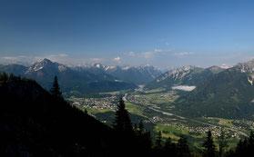 Lechtal , Alpen , Säulinghaus , Berge , Ausicht , Landschaft , Panorama , Himmel , Blau , Österreich ,