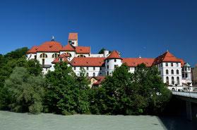 Germany , Deutschland , Alpen , Bayern , Allgäu , Schloss , Castle , Lech , Blau , Himmel , Stadt , Füssen , Märchenschloss , König Ludwig