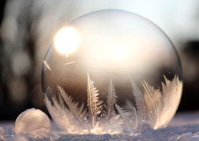 Seifenblase Frost
