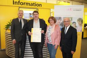 Bild v.l.n.r.: Thomas Thomer, Markus Holzmann, Helma Janssen, Helmut Dallei