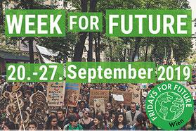Von 20. bis 27. September findet die internationale Week for Future, eine Aktionswoche ganz im Zeichen des Klimaschutzes statt.