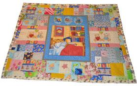 """Лоскутное подростковое одеяло """"Мишки Падингтоны"""""""
