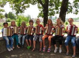 Akkordeon-AG im Schuljahr 2014/15