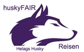 Helags Husky Logo huuskyFAIR Reisen