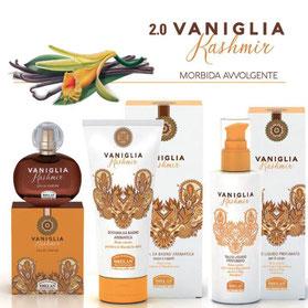 cosmetici profumati biologici alla vaniglia kashmir di helan