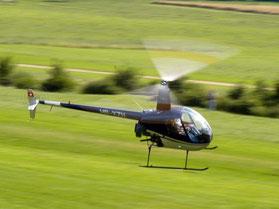 Robinson R22 beim Schnupperflug