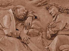 Detail des Riemenschneider Reliefs