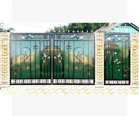Кованые ворота в Кургане
