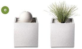 プライベート空間を彩るプランターは可愛らしい丸いオブジェか、植栽をお選びいただけます。