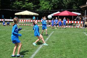Der Faustball-Nachwuchs des TV Hohenklingen präsentierte sich beim eigenen Sportfest überaus erfolgreich. Die engagiert auftretenden Kids der U10 holten sich dabei wie schon im Vorjahr den Turniersieg.