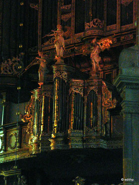 Detail der Orgel