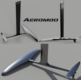 vue en 3D du windfoil Aeromod deuxième version