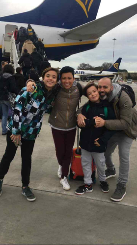 Giorgia, Alessandro ed i piccoli Alessio e Andrea